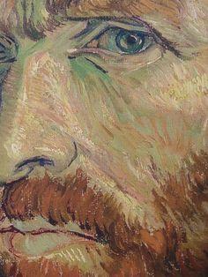"""Vincent Van Gogh.  """"Autorretrato"""" Detalle."""