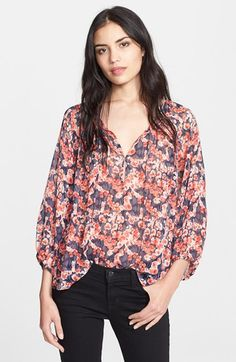 Joie 'Rochan' Print Silk Top available at #Nordstrom