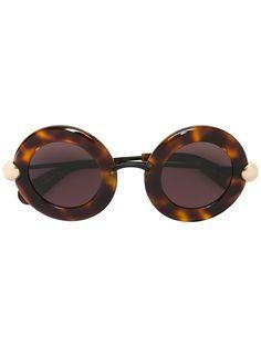 4b097ebc98 Christopher Kane  Flight  Sunglasses - Farfetch. Brown GlassesRound Frame  ...