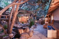 At first look, it seems unlikely that this luxe Japanese-style spa resort would admit pets – but fou. - Ten Thousand Waves Japanese Spa and Resort New Mexico Road Trip, Travel New Mexico, New Mexico Resorts, New Mexico Vacation, Cruise Vacation, Disney Cruise, Vacation Destinations, Sante Fe New Mexico, Taos New Mexico