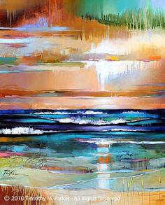 Modern Landscape Painting - Artist Tim Parker