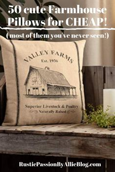 These Farmhouse Pillows are gorgeous and so cheap! You can decorate your dream home with these neutral throw pillows for your living room. Cheap Pillows, Toss Pillows, Couch Pillows, Farmhouse Lighting, Farmhouse Decor, Farmhouse Bed, Farmhouse Kitchens, Vintage Farmhouse, Farmhouse Design