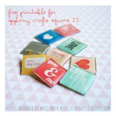 Free #printables to match the #epiphanycrafts Shape Studio Tool Square.