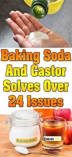 Baking soda And black castor oil remedy..