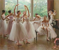 Painting of Ballet Dancers Art for Sale Ballet Art, Ballet Dancers, Ballerina Painting, Repetto, Shall We Dance, Dance Pictures, Ballet Pictures, Ballet Images, Ballet Photography