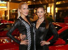 Nouba girls lighting up the night with Ferrari at Sofitel Budapest Chain Bridge for La Nuit Grand Prix Opening Party.