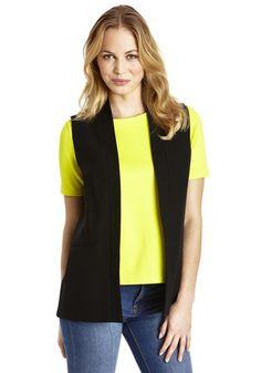 F&F Limited Edition Long Line Waistcoat at Clothing at Tesco