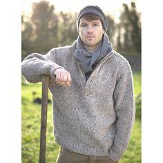 Wool Half-Zip Troyer Sweater