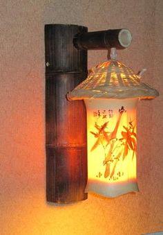 lanterna Chinesa com bambu