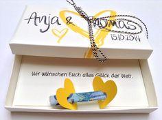 Geldgeschenke - Geldgeschenk zur Hochzeit - alle Farben Nr.12 - ein Designerstück von Kunstundtext bei DaWanda