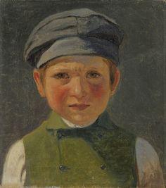 Anton Laurids Johannes Dorph (1831-1914) – Portrait d'un jeune pêcheur portant une casquette - Collection privée