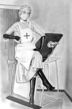Latex Uniform, Art Antique, Nursing Clothes, Mistress, Just For You, Medical, Fan Art, Cartoon, Drawings