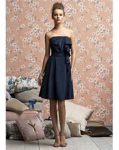 dark navy bridesmaid dress. have i pinned this yet??