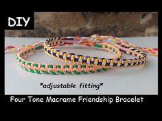 Four Colour Macrame Bracelet Tutorial