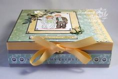 Decorated wooden box - wedding gift