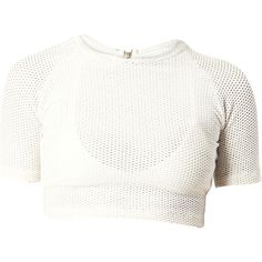 Matte featuring polyvore, women's fashion, clothing, tops, crop tops, white crop top, crop top and white top