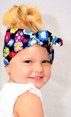 Flowery hair wrap
