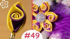 Все Лепестки Канзаши #49 / Тройной лепесток со спиралью                                                                                                                                                                                 Más