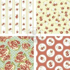 Resultados de la Búsqueda de imágenes de Google de http://us.123rf.com/400wm/400/400/alisafoytik/alisafoytik1206/alisafoytik120600103/14255156-conjunto-shabby-chic-4-patrones-aumento-la-cosecha-seamless-vector-rose-papel-tapiz.jpg