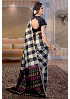 Multi-Colour Thread Weaved Handloom Silk Saree - SR2609