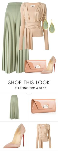 """outfit4353"" by natalyag ❤ liked on Polyvore featuring Givenchy, Christian Louboutin, MM6 Maison Margiela and ABS by Allen Schwartz"