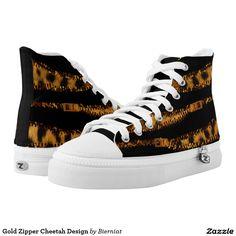Gold Zipper Cheetah Design