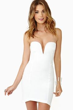 Helix Dress in White by Nasty Gal