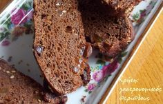 Raisin bread with carob powder Raisin Bread, Banana Bread, Healthy School Snacks, Pain, Healthy Choices, Food And Drink, Sweets, Diet, Desserts