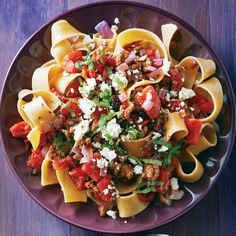 Pappardelle with Spiced Meat Sauce by Cleating Eating Magazine is #whatsfordinner