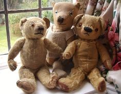 Three Old Bears In Need of TLC & New Home! Vintage Tatty Trio OAP Teddy Bears | eBay