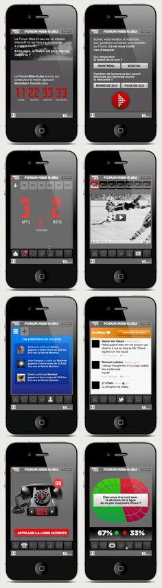 Version mobile du Forum Mise-O-Jeu de Loto-Québec réalisé en 2011 par l'agence commun. Le Forum Mise-O-Jeu permet d'accompagner une partie du Canadien avec un ensemble de widgets. (Twitter, Facebook, Photo, Vidéo, Sondage, Statistiques, WebTv, Bruits, etc..) http://blogue.commun.ca/2011/11/16/retour-vers-le-forum/