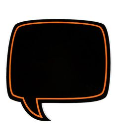 {Orange Chalkboard Conversation Bubble} Awesome photo prop