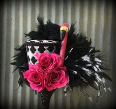 Mini Top Hat Alice in Wonderland Flamingo Mini Top by ChikiBird