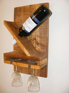 Estante del vino por BilleterCreations en Etsy