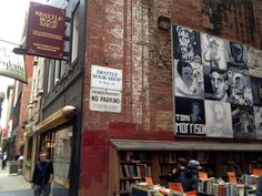 """Brattle Bookshop Boston - Love this shop!  """"One of America's oldest and largest used book shops, the Brattle features an outside sale lot, two floors of general used books, and a third floor of rare & antiquarian books."""" www.brattlebooksh..."""