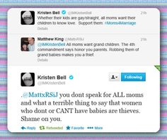 Kristen Bell, you rock. And some people don't want to have kids, and they shouldn't be shamed into having them.
