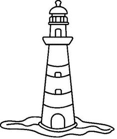 Lighthouse pattern use the printable outline for crafts creating drawings of lighthouses pronofoot35fo Images