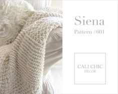 Easy Super Chunky Knitting Pattern for Beginners - Siena Knit Throw Blanket #601