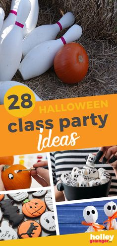 We may not be having many classroom Halloween parties this year, but you can still have a family Halloween party. I've made it easy for you with ideas for Halloween games and Halloween food ideas. These Halloween party ideas are sure to make for lots of family fun. | Holley Grainger  - Cleverful Living Easy Halloween Snacks, Classroom Halloween Party, Classroom Treats, Halloween Party Games, Healthy Halloween, Halloween Crafts For Kids, Family Halloween, Halloween Fun, Haunted Halloween