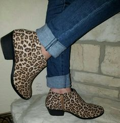 Leopard Booties Sizes 5.5- 11  Perfect for fall order here www.gypzranch.com Ranch, Gypsy, Walking, Booty, Purses, Boutique, Mom, Fall, Outfits