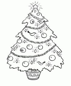 Free Printable Christmas Tree Coloring Pages Many Holiday Sheets And Book Pictures For Kids