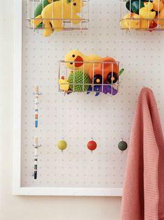 Peg Board for Bathroom Storage DIY from Pop