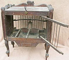 Antique, Victorian, Hand Carved, Black Forest Carved Bird Cage..just Fabulous.