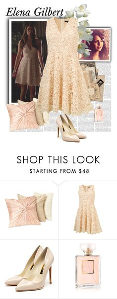 """""""Elena Gilbert - The Vampire Diaries"""" by gone-girl ❤ liked on Polyvore featuring Nordstrom, Rupert Sanderson, Chanel, vampirediaries, thevampirediaries and ElenaGilbert"""