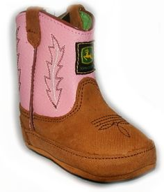 John Deere Tan, Pink baby Cowgirl boots  $30.99 - for Emory