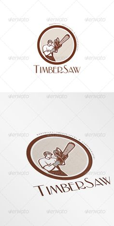 Timbersaw Arborists and Treescapers Logo Design Template Vector #logotype Download it here: http://graphicriver.net/item/timbersaw-arborists-and-treescapers-logo/7843739?s_rank=1606?ref=nexion