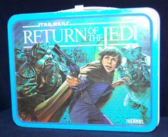 Vintage Return Of The Jedi Lunch Box with Thermos 1983 on Etsy, $67.00