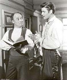 Guy Williams no papel de Dom Diego de la Vega, com Gene Cheldon, interpretando Bernardo, o seu criado fiel e mudo.