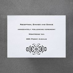 Simple Elegance - Reception Card weddingneeds.carlsoncraft.com