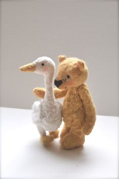 Golden bear and goose - Designed by Alice